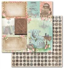 BoBunny 12x12 scrapbooking paper Soiree collection, Home 2 sheets