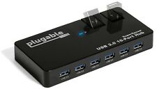 Plugable USB Hub with Charging - USB 3.0, 10-Port, 48W