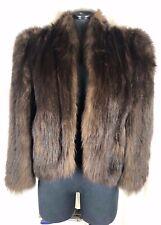 Vintage SORENSEN WAHLBERG Dark Brown BEAVER Fur Size Small Bolero Jacket
