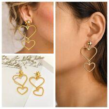 Dangle Alloy Earrings Jewelry Gift Fashion Women Love Heart Long Drop