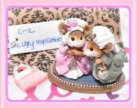 ❤️Wee Forest Folk C-2 The Ugly Stepsisters Cinderella's Wedding RETIRED Mice❤️