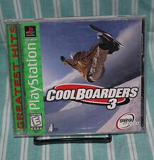 Cool Boarders 3 PS1 COMPLETE CIB GH 989 Studios