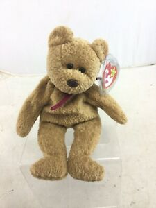 1993 TY Beanie Babies Curly Bear W/ Hang Tags