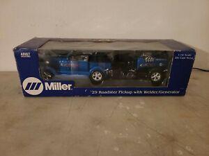 1/18 ERTL DIECAST 29 ROADSTER PICKUP W/MILLER ELECTRIC WELDER/GENERATOR TRAILER
