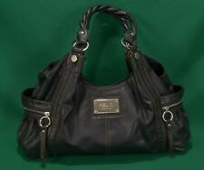 Relic Brand Collection Handbag Black Faux Big Bag Hobo Zippers Shoulder Purse