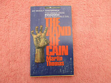 martin thomas the hand of cain  magnum 1st ed p/b 1967 occult masterpiece