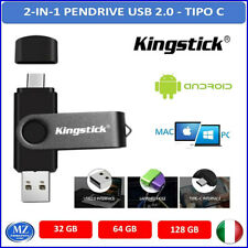 Pendrive USB OTG 2.0 32gb 64gb 128GB Type C Micro Smartphone penna 3.0 chiavetta