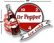"""(dp-107) 24"""" Dr Pepper 10 2 4 Ice Cold Bottle in Hand cooler Pop Soda Decal"""