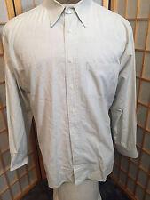 fefa3951 Pierre Balmain Canada Gray Plaids Cotton Dress Shirt Mens Size 15 1/2 33