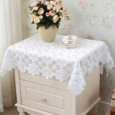 Square Doily White Floral Tablecloth Side Lace Table Cloth Cover Party 60x60cm