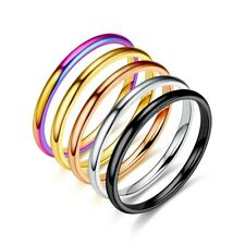Korean style simple fashion stainless steel fine ring couple ring jewelry gift