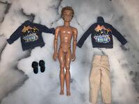 MY SCENE 2003 Mattel Boy Ken Barbie Doll W/ Flavas Liam Jean Jacket Outfit Shoes