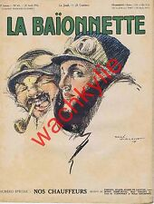 La baionnette n°43 - 27/04/1916 Nos chauffeurs René Vincent Curnonsky Automobile