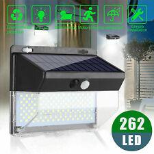 262 LED Solar Lights Lamp Motion Sensor PIR Wall Light Outdoor Garden Waterproof