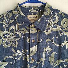 Mens Cooke Street S/S Hawaiian Shirt Reverse Floral Print Camp Resort Lounge 2XL