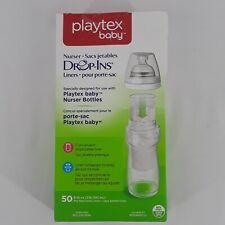Playtex Baby Nurser Drop-Ins 50 Liners for Baby Bottles 8-10 oz Capacity
