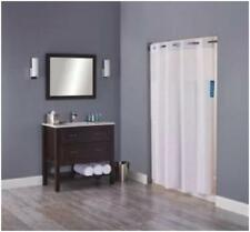 "Hookless Hampton Mystery White W/Tag Fabric Shower Curtain, Sheer Window 71x80"""