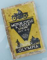 1926/1927 MOTORCYCLE SHOW GUIDE BOOK BROUGH HARLEY TRIUMPH BSA NORTON AJS RUDGE