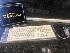 Computer Keyboard IBM KB-9910 White Wired PS/2 Vintage Desktop