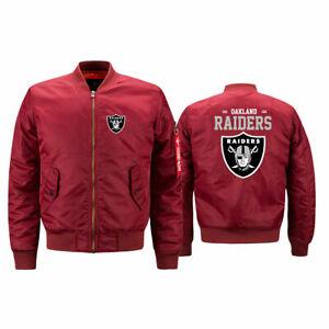 Oakland Raiders Pilot Bomber Jacket Flying Tigers Flight Thicken Coat Jacket