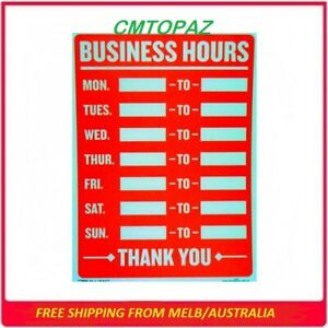Business Hours Trading Sign Open Close Office Shop Restaurant Window Door Signs