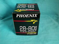 Phoenix 28-80mm f/3.5-5.6 AF Zoom Lens for Minolta Maxxum Cameras & Sony Alpha