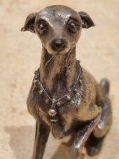 Very Detailed Metal Italian Greyhound Whippet Dog Figurine