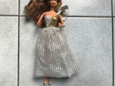 Gold silver white dress fits Barbie, Sindy, Fleur, Petra etc doll