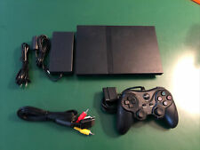 Complete Sony PlayStation 2 Slim Ps2 Console Bundle Black With Cont. Hookups E