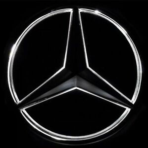 Illuminated LED Light Front Grille Star Emblm Badge for Mercedes Benz 2011-2016