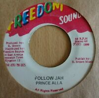 "PRINCE ALLA - Follow Jah - 7"" Vinyl Freedom Sounds 🇧🇴 ROOTS REGGAE / DANCEHALL"