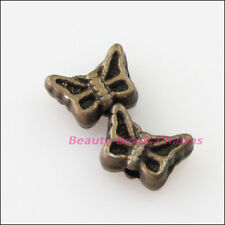 50Pcs Antiqued Bronze Tiny Animal Butterfly Spacer Beads Charms 5x7mm