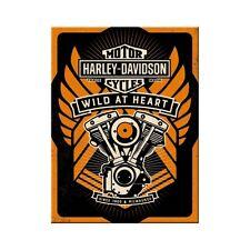 Harley Davidson Wild Heart Kühlschrankmagnet Fridge Refrigerator Magnet 6 x 8 cm
