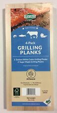 4-Pack Grilling Planks- (2)Cedar (2)Maple - Gas /Charcoal Barbecue Grilling