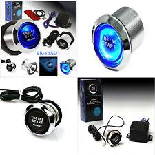 Car Engine Start Stop Push Button Blue LED Ignition Starter Switch Universal UK
