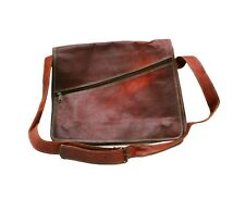 Genuine Leather Handmade Brown Messenger Shoulder Bag Satchel Retro Vintage 36