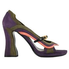 "PRADA Fairy Collection ""Wave"" Multi Color Suede Open Toe Shoes Sandals Size 39"