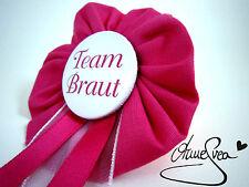 Orden Team Braut JGA pink rosa Deko Anstecker Button Junggesellinnenabschied