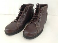 Buffalino Wayne Logger 589207 Mens 10 1/2 D Brown Leather Lace Up Ankle Boots
