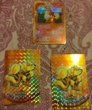 3 Vintage Growlithe Arcanine STICKER Base Set TOPPS Holo Retro Pokemon Card Lot