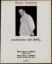 1995 ROCH VOISINE BMG INTERNATIONAL PROMO AD