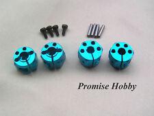 blue aluminum 12mm HEX wheel hub 10mm thickness for rc cars crawlers - 4pcs