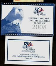 Replacement Box Clad 2008 50 State Quarters Blue Eagle Proof Box & Coa Only