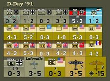 Avalon Hill's Die-Cut D-Day '91 (Smithsonian Edition) Replacement Counters