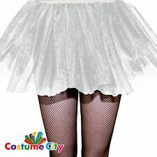 Womens Ladies White Tulle Mesh Tutu Skirt Fancy Dress Party Costume Accessory