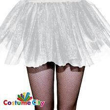 Womens Ladies White Mesh Tutu Skirt Fancy Dress Party Costume Accessory