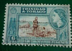 TRINIDAD & TOBAGO:1953 -1955 Queen Elizabeth II, Landsc Rare & Collectibe Stamp.