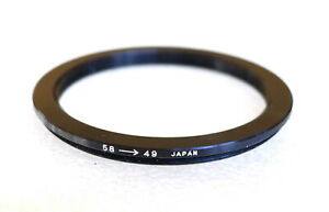 58-49mm Step-Down Ring Adapter - 58mm-49mm Stepping Ring - Japan - NEW