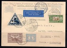 NETHERLAND INDIES 1933 KRAWANG FIRST FLIGHT ON UPRATED 5c POSTAL CARD VIA BATAVI