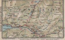 BRIENZ AXALP MEIRINGEN BRÜNIG. Lungern Bürglen. Vintage map. Switzerland 1930